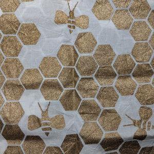Lush honey honeycomb bee print knot wrap